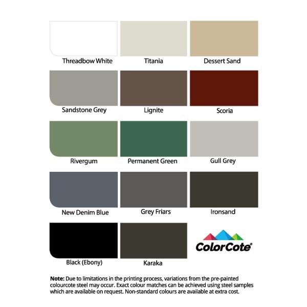 14 Standard Colours